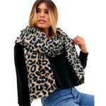 SLUTSÅLD ASOS DESIGN – Lång leopardmönstrad scarf