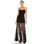 MUGLER Strapless Sheer Dress