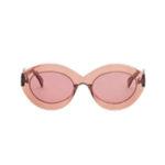 Alaïa Enhanced Femininity Nude Oval Sunglasses