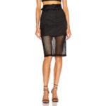 FLEUR DU MAL Sheer Pencil Skirt