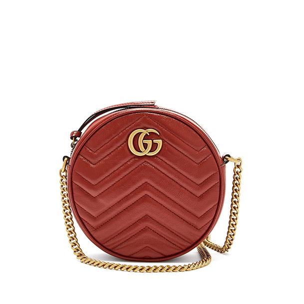 Gucci GG Marmont Circular Leather Cross-Body Bag