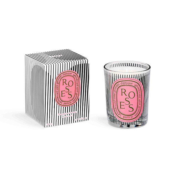 Diptyque Dancing Ovals 21 Roses Scented Candle