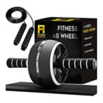 Ab Roller Wheel — 3-in-1 Ab Wheel Roller with Knee Mat and Jump Rope