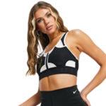 Nike Training Ultrabreathe medium support swoosh bra in black