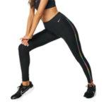 Nike Training One rainbow ladder 7/8 leggings in black