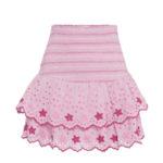 LOVESHACKFANCY Nathan embroidered cotton miniskirt