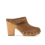 Veronica Beard buckle-detail heeled clogs