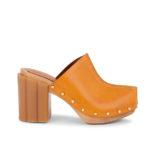 Stella McCartney Daisy Block-Heel Clogs