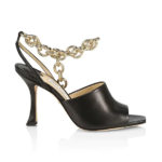Jimmy Choo Sae Ankle-Chain Leather Sandals
