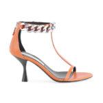 Stella McCartney Falabella Ankle-Chain T-Strap Sandals