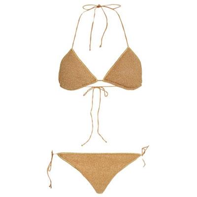 Oseree Triangle Lurex Bikini